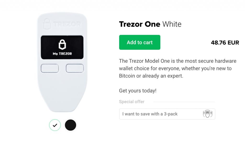 Trezor One Discount Code